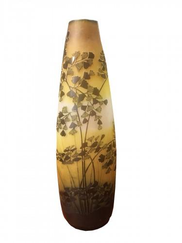 Gallé - Large Art Nouveau vase