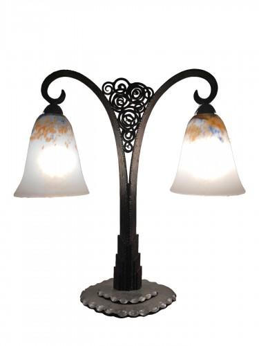 Daum Nancy - Art Nouveau double lamp