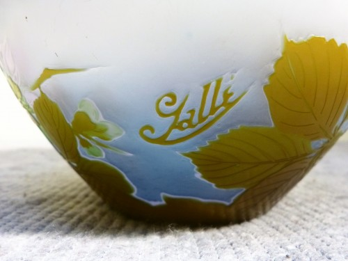 Emile Gallé - Japanese ball vase with apple tree flowers - Glass & Crystal Style Art nouveau