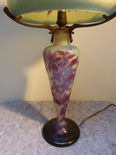 Emile Gallé - Mushroom lamp with clematis -