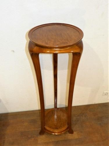Ecole de Nancy, Art nouveau pedestal table in Tamo - Furniture Style Art nouveau