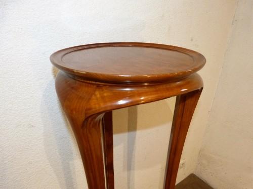 Ecole de Nancy, Art nouveau pedestal table in Tamo -