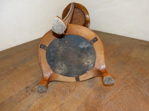 Antiquités - Ecole de Nancy, Art nouveau pedestal table in Tamo
