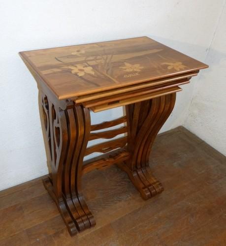 Furniture  - Emile Gallé - Series of Art Nouveau nesting tables