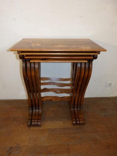 Emile Gallé - Series of Art Nouveau nesting tables -