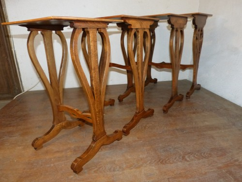 Antiquités - Emile Gallé - Series of Art Nouveau nesting tables