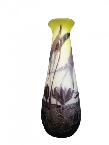 Emile Gallé vase with Sagittarius and water lilies