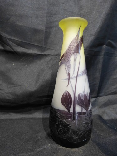Emile Gallé vase with Sagittarius and water lilies  -