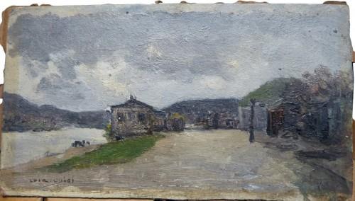 Luigi Loir (1845 - 1916) - The exit from Paris at the Point-du-jour