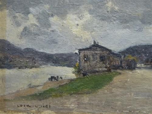 Luigi Loir (1845 - 1916) - The exit from Paris at the Point-du-jour - Paintings & Drawings Style Art nouveau