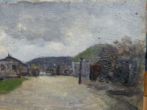 Paintings & Drawings  - Luigi Loir (1845 - 1916) - The exit from Paris at the Point-du-jour