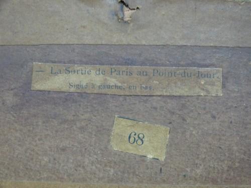 Luigi Loir (1845 - 1916) - The exit from Paris at the Point-du-jour -
