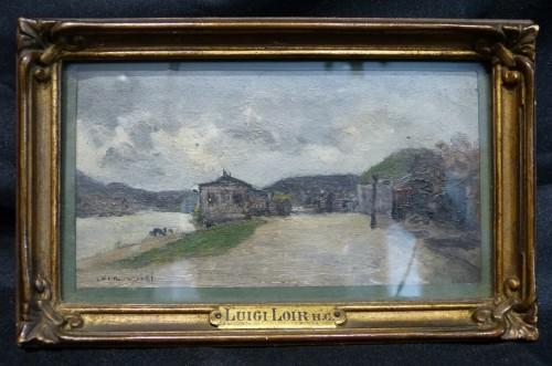 Luigi Loir (1845 - 1916) - The exit from Paris at the Point-du-jour - Art nouveau