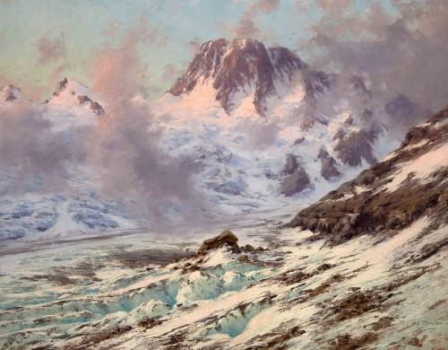 Charles BERTIER (1860 - 1924) - Mountain Landscape, France La Bérarde