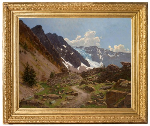 Édouard BRUN (1860 -1935) - French Mountain Landscape (Hautes-Alpes) - Paintings & Drawings Style