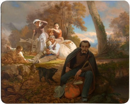"Bernard CLARIS (1815-1857) - ""The poet Veyrat"""