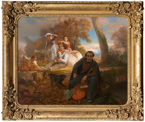 "Bernard CLARIS (1815-1857) - ""The poet Veyrat"" - Paintings & Drawings Style"
