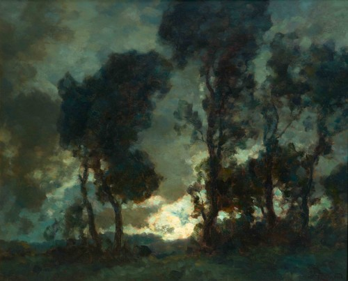 François CACHOUD (1866-1943)  - Moonrise after the rain
