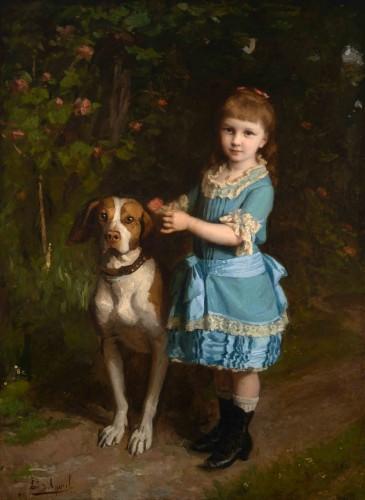 Édouard d'APVRIL (1843-1928) - Portrait of Mademoiselle Chatrousse