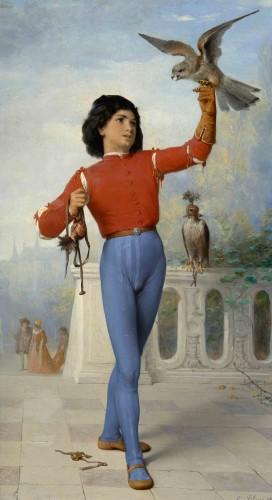 Célestin-Joseph BLANC (1817 -1888) - Young falconer