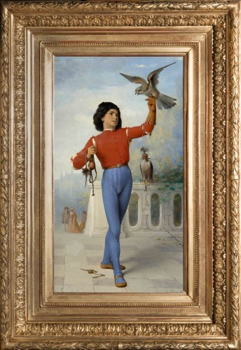 Célestin-Joseph BLANC (1817 -1888) - Young falconer - Paintings & Drawings Style