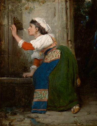 Célestin-Joseph BLANC (1817 -1888) - Young Italian at the fountain