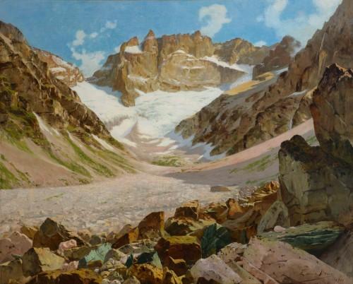 Edouard BRUN (1860 - 1935) - The southern face of La Meije