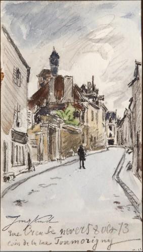 Rue Creuse, Nevers, 1873 - Johan Barthold Jongkind (1819-1891)