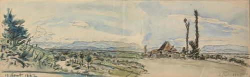 Farm near Côte-Saint-André - Johan Barthold Jongkind (1819-1891)