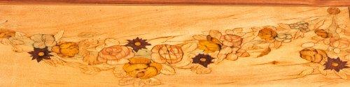 18th century - A Louis XVI floral marquetry bureau en pente by Topino