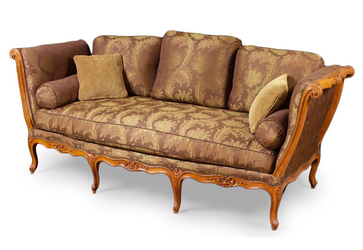 Lit de repos louis xv estampill l cresson xviiie for Canape louis 15