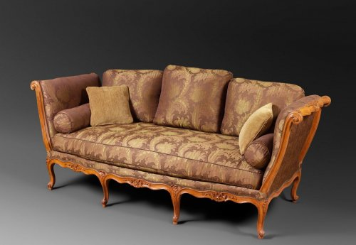 A Louis XV lit de repos by L. Cresson - Louis XV
