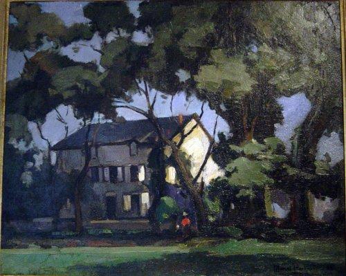 """""""Maison dans les arbres"""" Signed Marcel Parturier"""