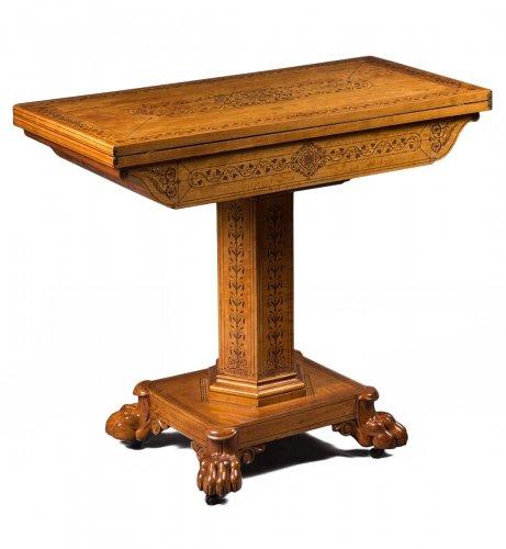 A Regency pair of game tables