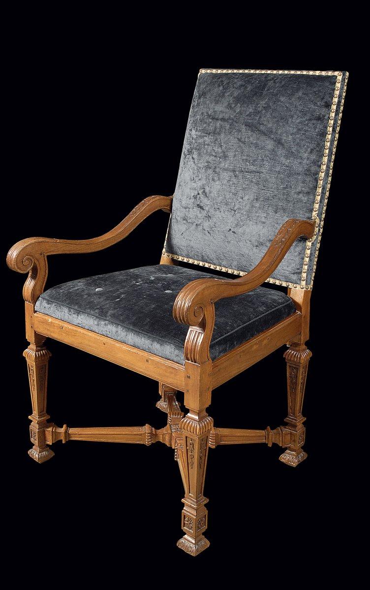 Paire De Fauteuils Dépoque Louis XIV XVIIIe Siècle N - Fauteuil louis xiv