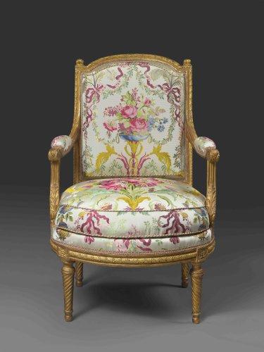 Louis XVI armchair attributed to J-B Sené - Seating Style Louis XVI