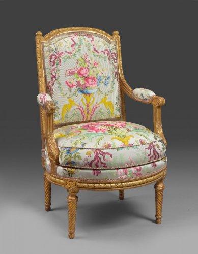 Antiquités - Louis XVI armchair attributed to J-B Sené