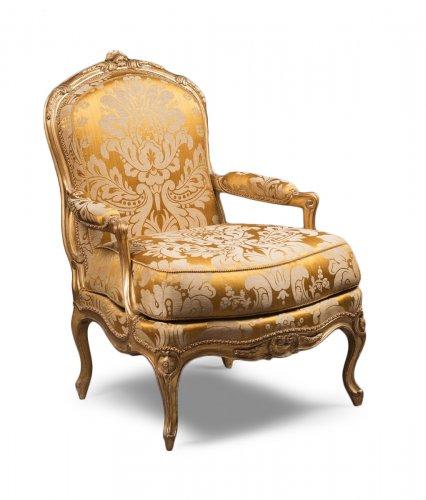 fauteuil louis xv antiquit s sur anticstore xviiie si cle. Black Bedroom Furniture Sets. Home Design Ideas