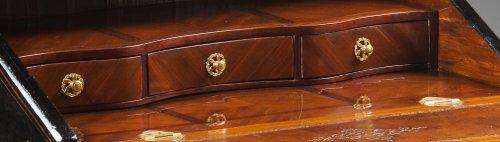 Louis XV - A Louis XV ormolu mounted vernis Martin bureau en pente