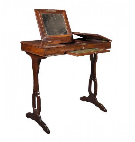 A Louis XVI mahogany table de toilette