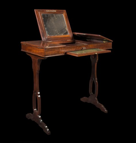 A Louis XVI mahogany table de toilette -