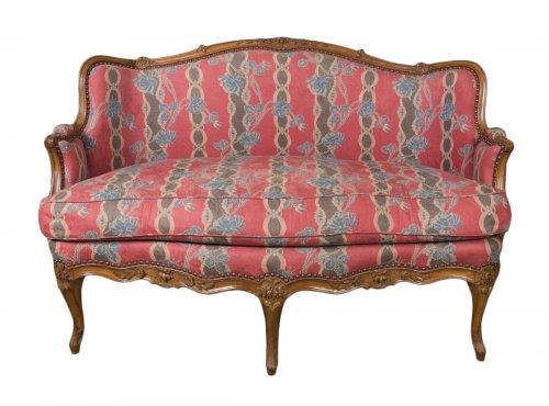 lit de repos canap de jfm langon vers 1750 xviiie si cle. Black Bedroom Furniture Sets. Home Design Ideas