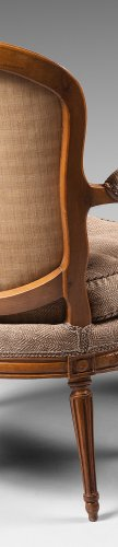 Seating  - A set of ten Transition dining room armchairs stamped Boulard