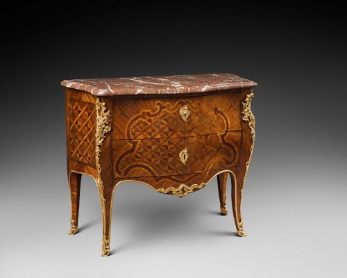 A Louis XV ormolu-mounted marquetry  commode stamped Albert Levesque - Louis XV