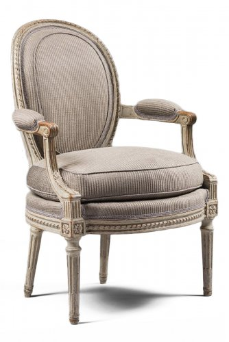 A set of four Louis XVI armchairs stamped by Georges Jacob