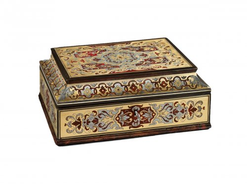 A Boulle marquetry casket