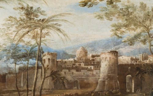 Campagno Scipione (Naples circa 1624-1685) - The Entry of Christ into Jerusalem - Paintings & Drawings Style