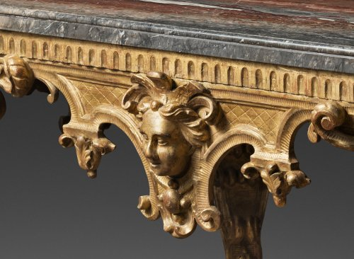 A Mid 18th Century gilt wood center-table - Furniture Style