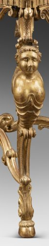 A Mid 18th Century gilt wood center-table -