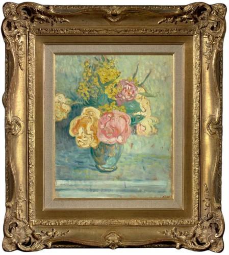 Bouquet de roses et de mimosas - Louis Valtat (1869-1952)
